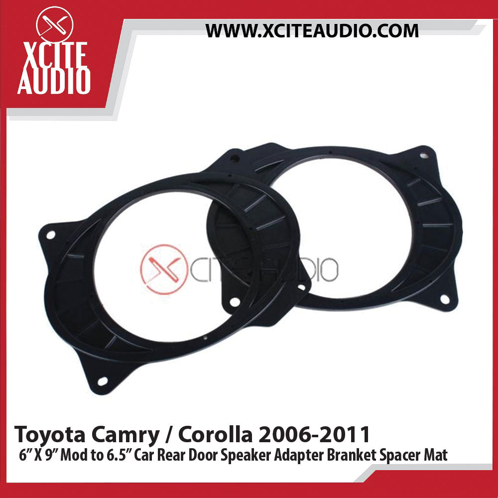 "Toyota Camry/Corolla 2006-2011 6"" x 9"" Modify to 6.5"" Car Rear Door Speaker Adapter Bracket Spacer Mat - Xcite Audio"