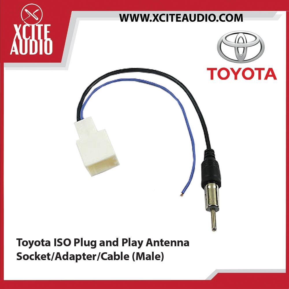 Toyota ISO Plug and Play Antenna Socket/Adapter/Cable (Male) - Xcite Audio