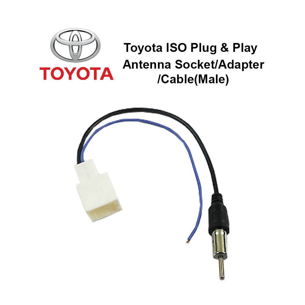Toyota ISO Plug and Play Antenna Socket/Adapter/Cable (Male)