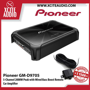 Pioneer GM-D9705 Class-D 5-Channel 2000W Peak with Wired Bass Boost Remote Car Amplifier - Xcite Audio
