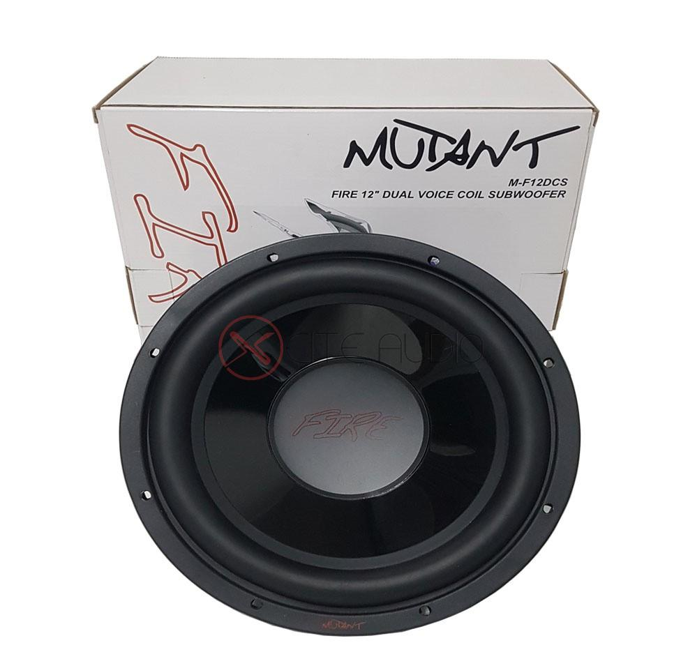 "Mutant M-F12DCS Fire 12"" 400W Peak Dual Voice Coil Car Subwoofer"