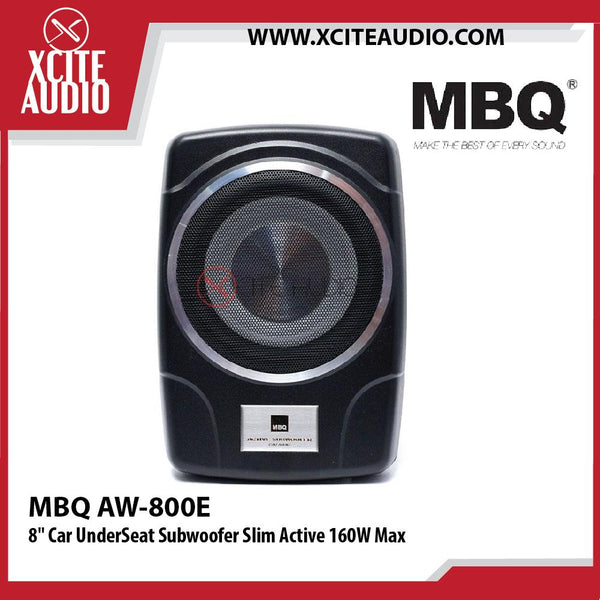 "MBQ AW-800E 8"" Slim Active 160W Max Car UnderSeat Subwoofer"