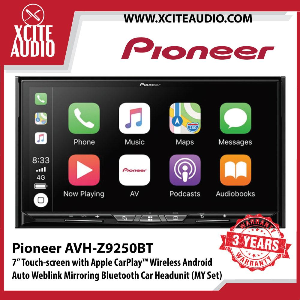 "Pioneer AVH-Z9250BT 7"" Wifi for Wireless Apple CarPlay Android Auto Mirroring Multimedia Receiver Car Headunit (Malaysia Set) - Xcite Audio"