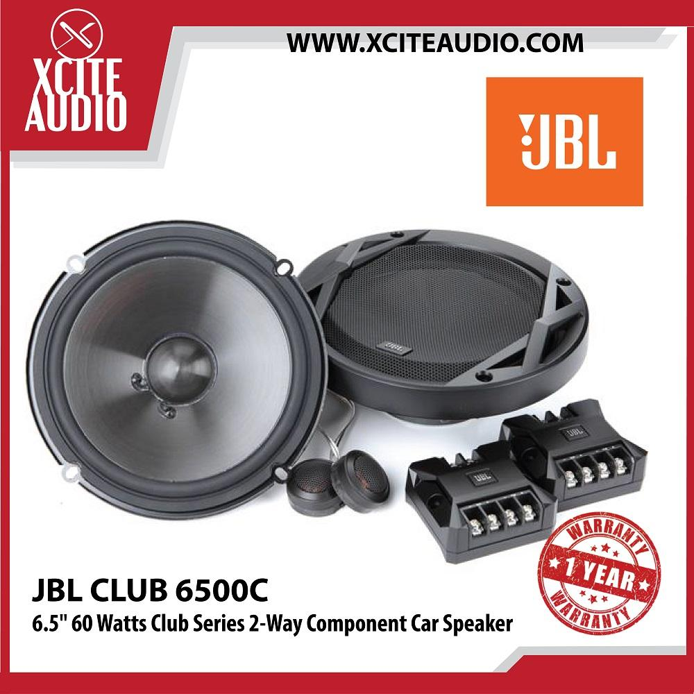 "JBL CLUB 6500C 6.5"" 60 Watts Club Series 2-Way Component Car Speakers - Xcite Audio"