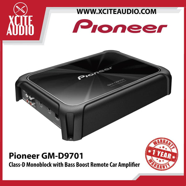 Pioneer GM-D9701 2400W Peak Class-D Monoblock with Bass Boost Remote Car Amplifier