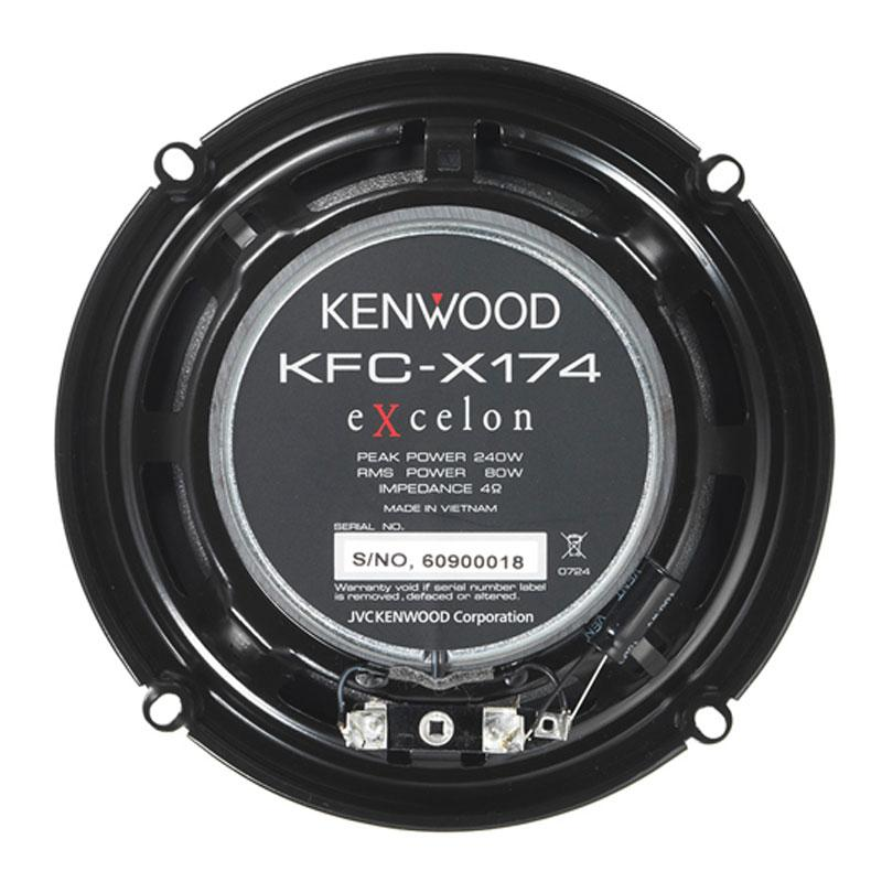 "Kenwood KFC-X174 6.5"" 2-Way 240W Peak Coaxial Car Speakers - Xcite Audio"