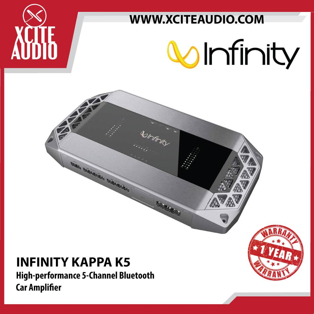 Infinity KAPPA K5 High-performance 2300W Peak 5-Channel Bluetooth Car Amplifier