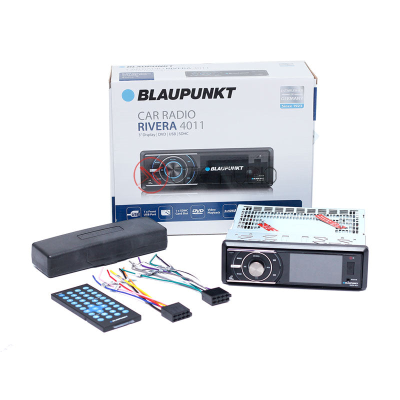 "Blaupunkt Rivera 4011 Single-Din 3"" LCD Display USB SDHC CD DVD Car Headunit - Xcite Audio"