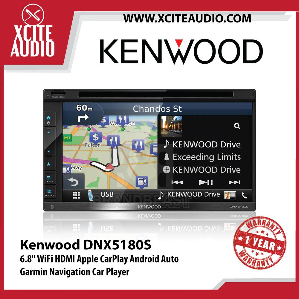 "Kenwood DNX5180S 6.8"" 5 Series AV Navigation System with WVGA Clear-coated Resistive Display Car Headunit - Xcite Audio"