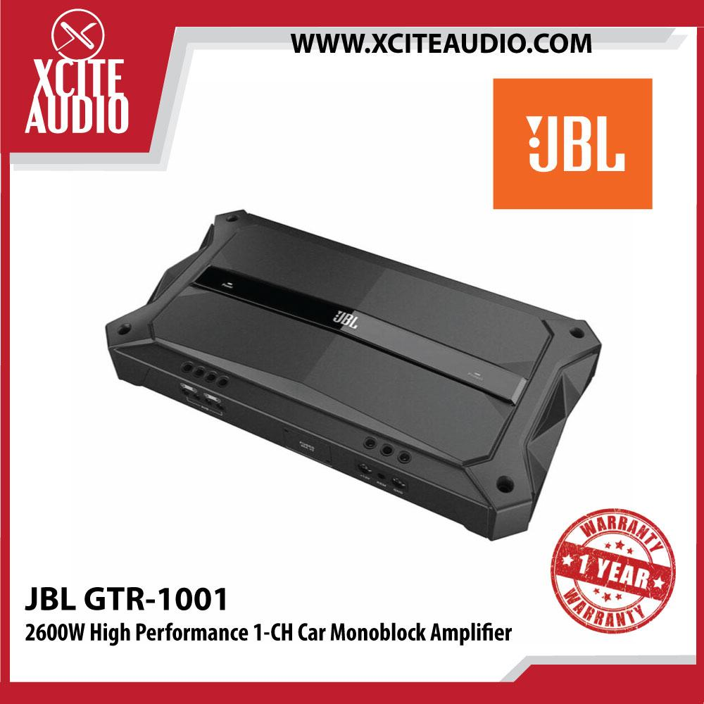 JBL GTR-1001 2600W Max High Performance Monoblock 1-CH Car Amplifier