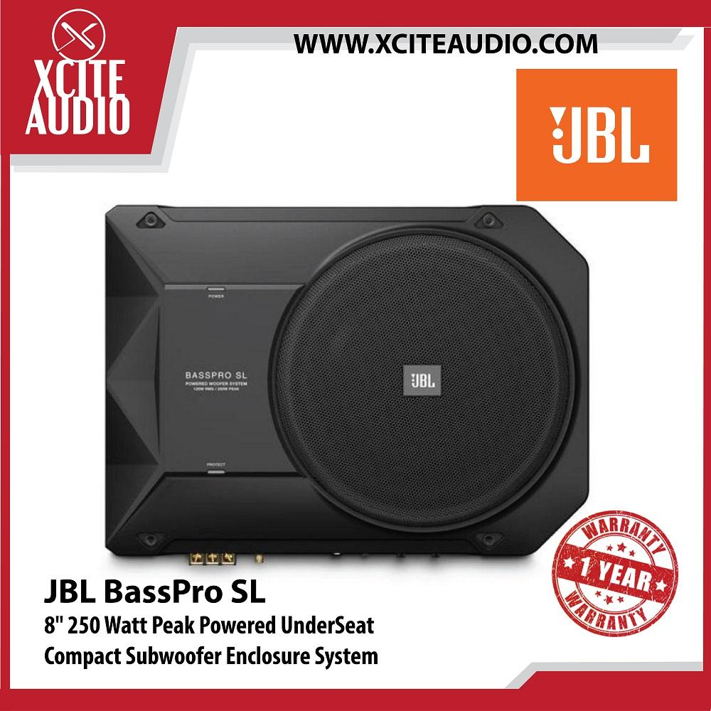 "JBL BassPro SL 8"" 250 Watt Peak Powered UnderSeat Compact Subwoofer Enclosure System"
