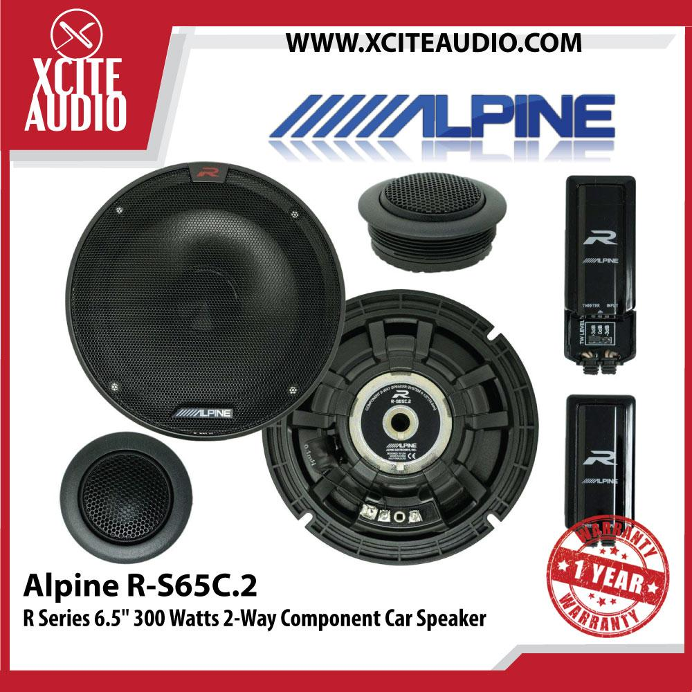 "Alpine R-S65C.2 6.5"" R-Series 2-Way 150W Peak Hi-Res Audio Component Car Speakers"