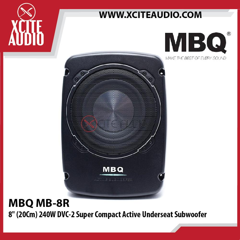 "MBQ MB-8R 8"" (20Cm) 240W DVC-2 Super Compact Active Car Underseat Subwoofer"