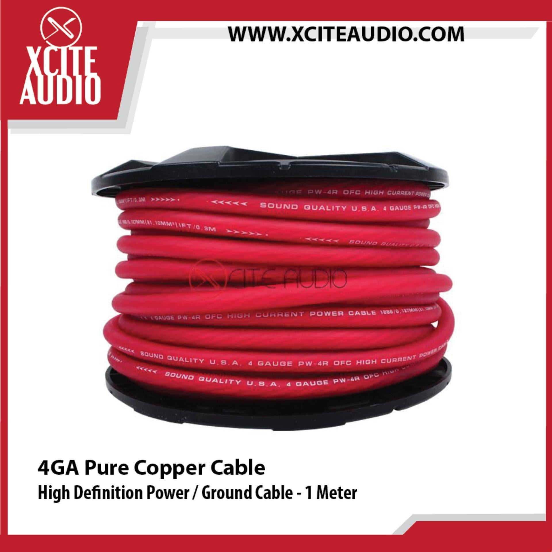 Magic 4GA Wire Pure Copper High Definition Power / Ground Cable - 1 Meter