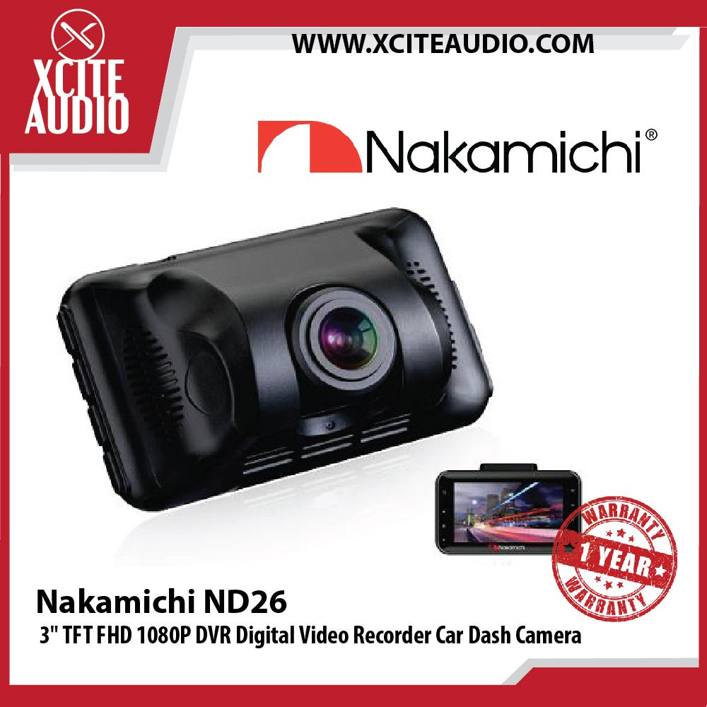 "Nakamichi ND26 3"" TFT FHD 1080P DVR Digital Video Recorder Car Dash Cam Camera"