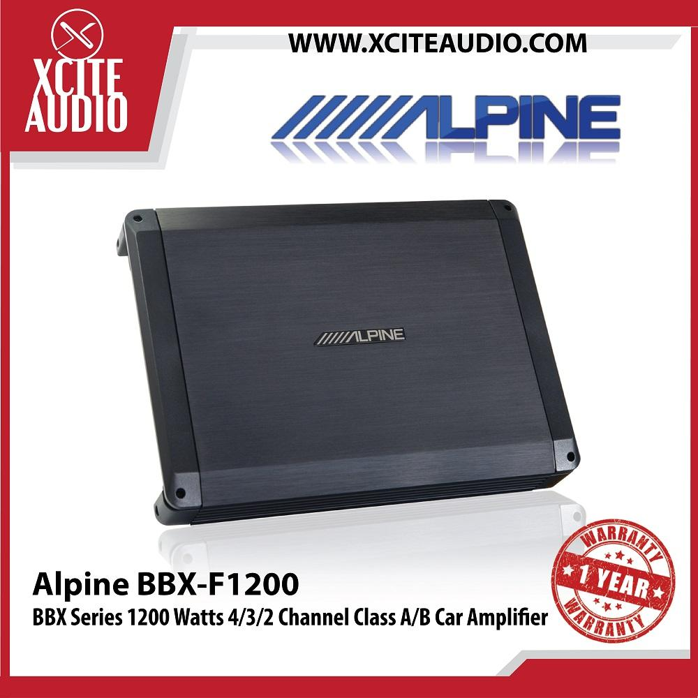 Alpine BBX-F1200 BBX Series 1200 Watts 4/3/2 Channel Class AB Car Amplifier - Xcite Audio