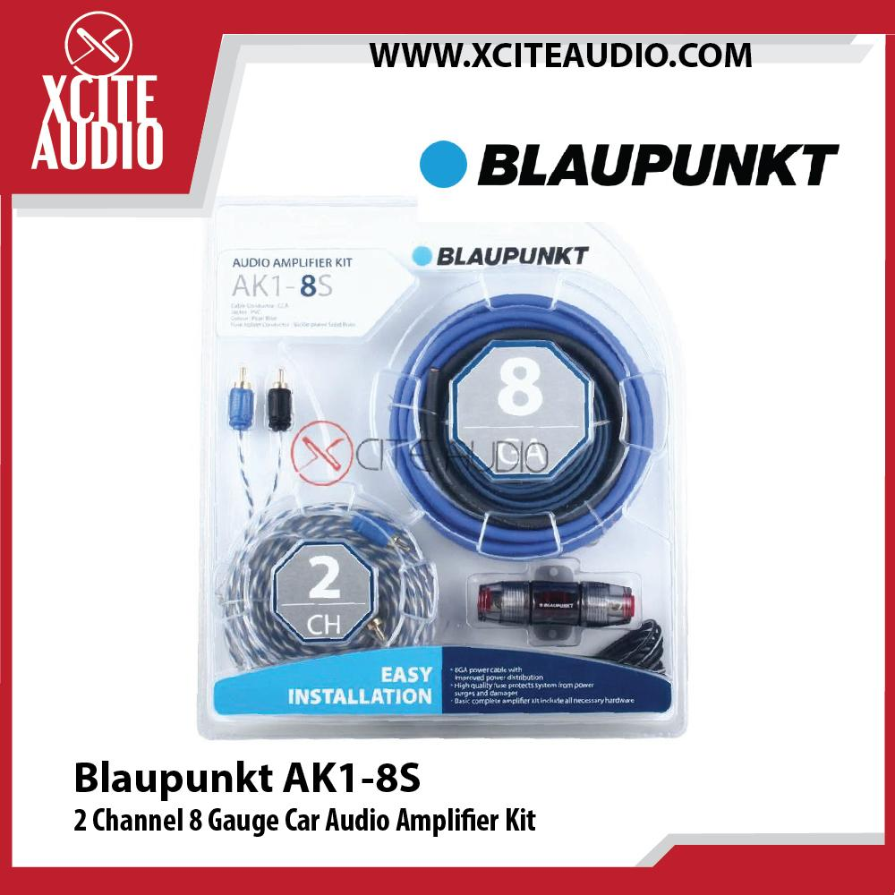 Blaupunkt AK1-8S 2 Channel 8 Gauge Car Audio Amplifier Kit - Xcite Audio