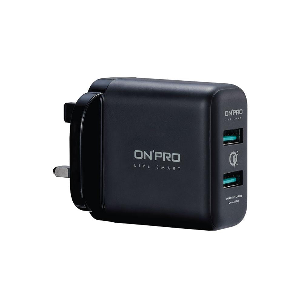 OnPro UC-2PQC36UK AC USB Qualcomm Quick Charge Charger