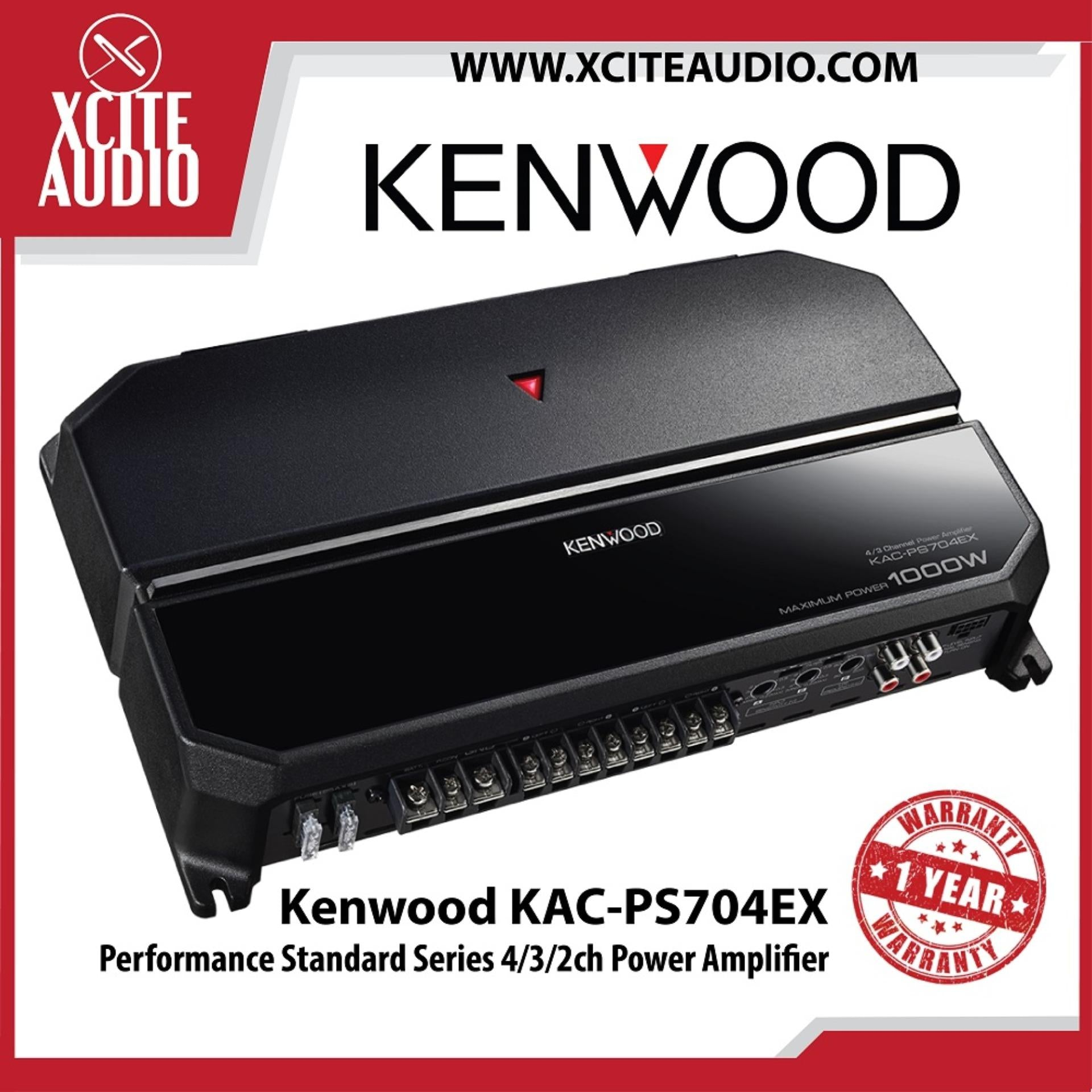 Kenwood KAC-PS704EX Performance Standard Series 4/3/2ch Power Car Audio Amplifier