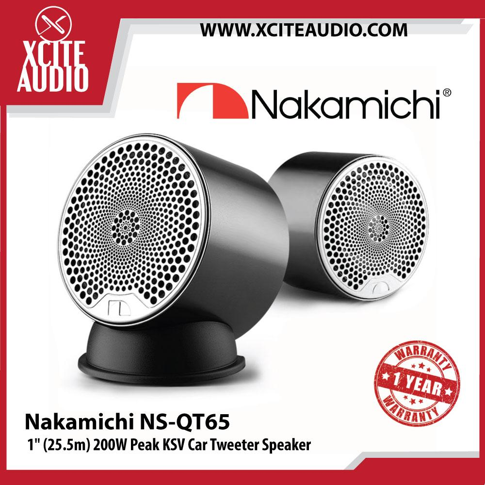 "Nakamichi NS-QT65 1"" (25.5m) 200W Peak KSV Car Tweeter Speakers"
