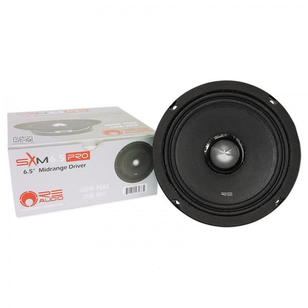 "RE Audio SXM6.5PRO 6.5"" 500 Watt Car Audio Midrange Driver"