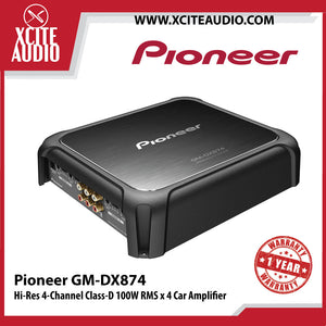 Pioneer GM-DX874 Hi-Res 4-Channel Class-D 100W RMS x 4 Car Audio Amplifier - Xcite Audio