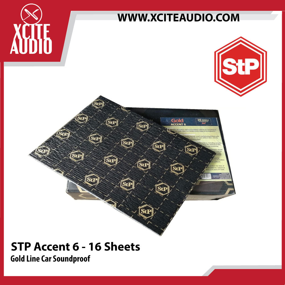 STANDARTPLAST Gold Line Accent 6 Car Soundproof - 16 Sheets - Xcite Audio