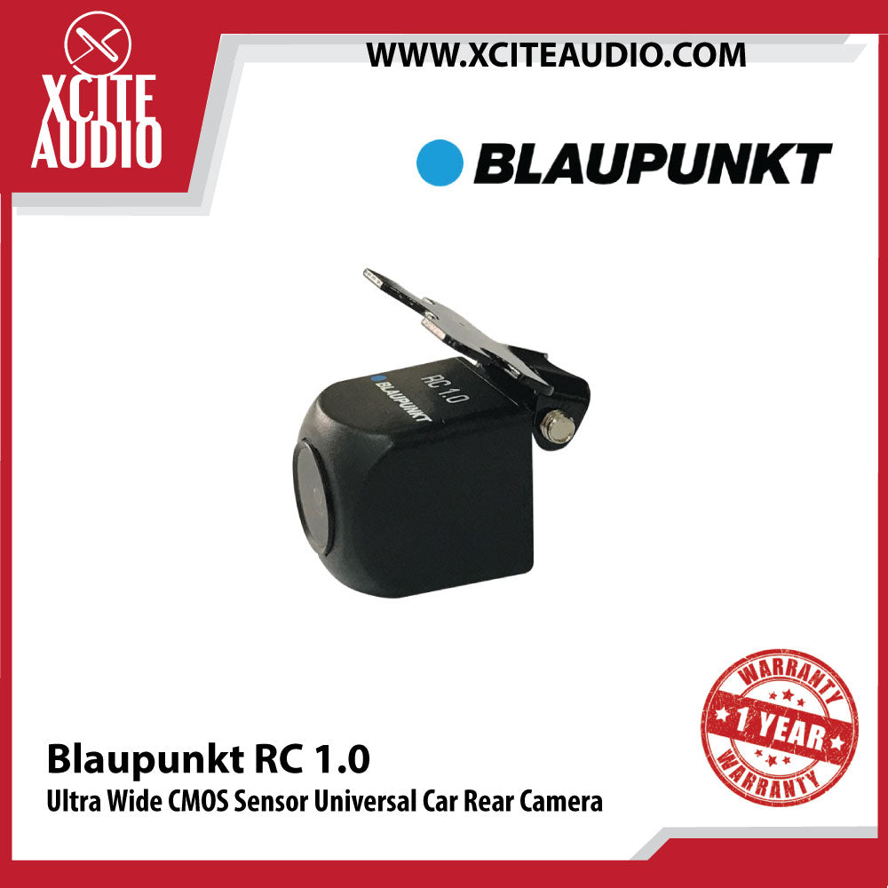 Blaupunkt RC 1.0 170° Ultra Wide CMOS Sensor Universal Car Rear View Camera - Xcite Audio