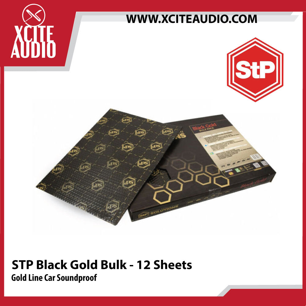 STANDARTPLAST Gold Line Black Gold Bulk Pack Car Soundproof - 12 Sheets - Xcite Audio