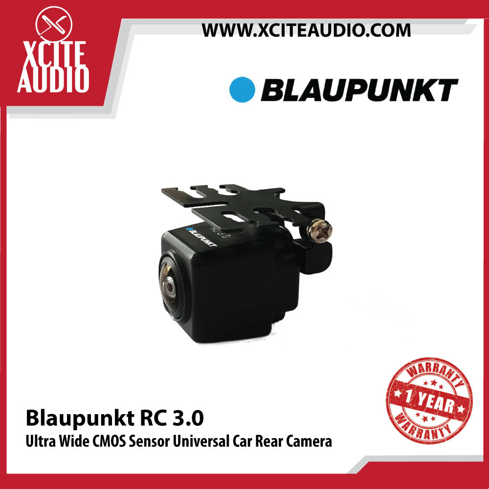 Blaupunkt RC 3.0 170° Ultra Wide CMOS Sensor Universal Car Rear View Camera - Xcite Audio