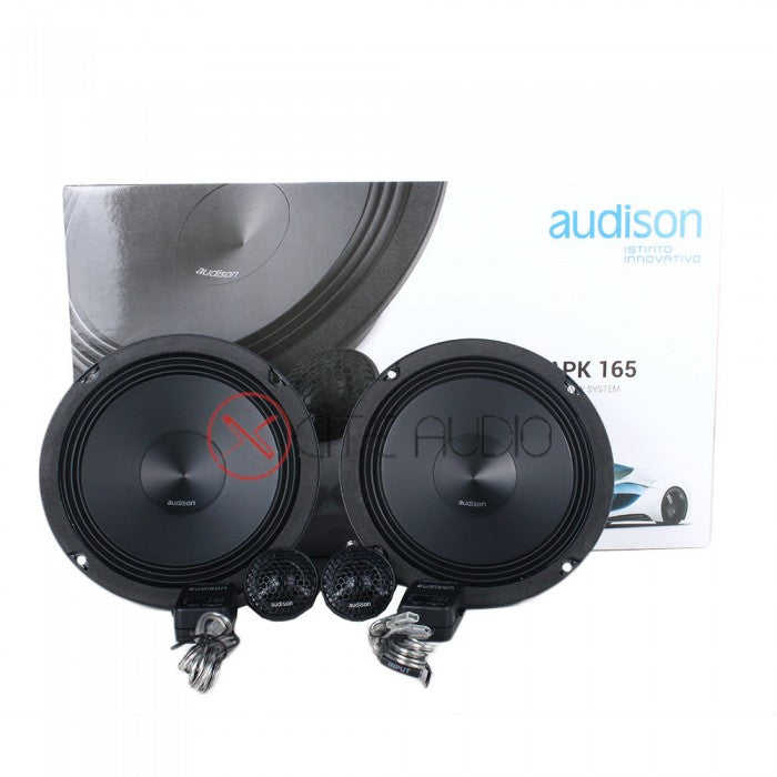 Audison APK165 + APX6.5 Car Speakers Combo Package FOC 2 X STP Silver Soundproof + 2 x STP Accent 6