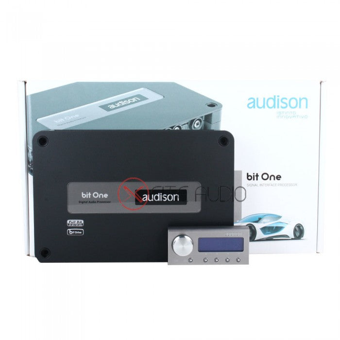 Audison Bit One Signal Interface Audio Processor with DRC Digital Remote Control FOC 1 x STP Heatshield L