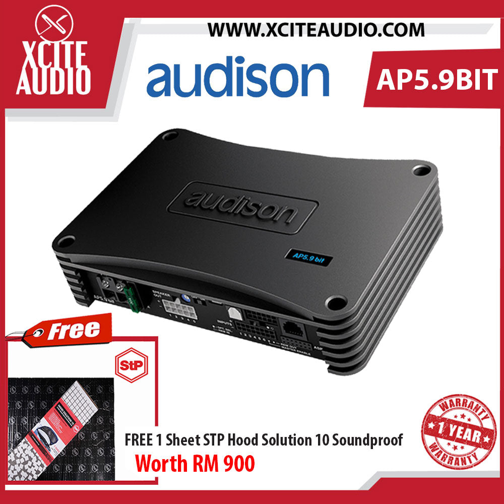 Audison AP5.9 bit Prima Series 5-Channel Amplifier with Built-In Digital Sound Processor FOC 1 x STP Hood Solution 10 - Xcite Audio