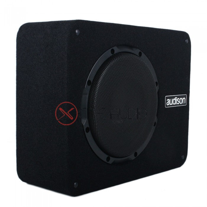 "Audison APBX 8 AS Prima Series 8"" 500 Watts Active Subwoofer Box FOC 4 x STP Silver Soundproof - Xcite Audio"