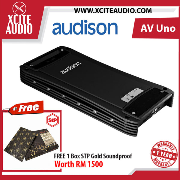 Audison Voce Series AV Uno Monoblock Amplifier FOC 1 x STP GOLD Soundproof BULK Pack