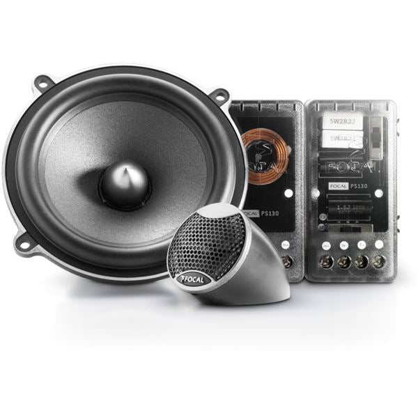 Focal PS 130V 5.25″ Expert Series 2-Way 120W Component Car Speakers - Xcite Audio