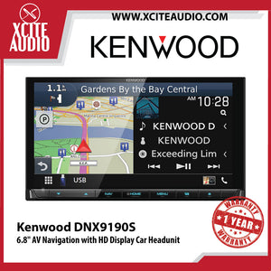 "Kenwood DNX9190S 6.8"" AV Navigation with High Definition Display Car Headunit - Xcite Audio"