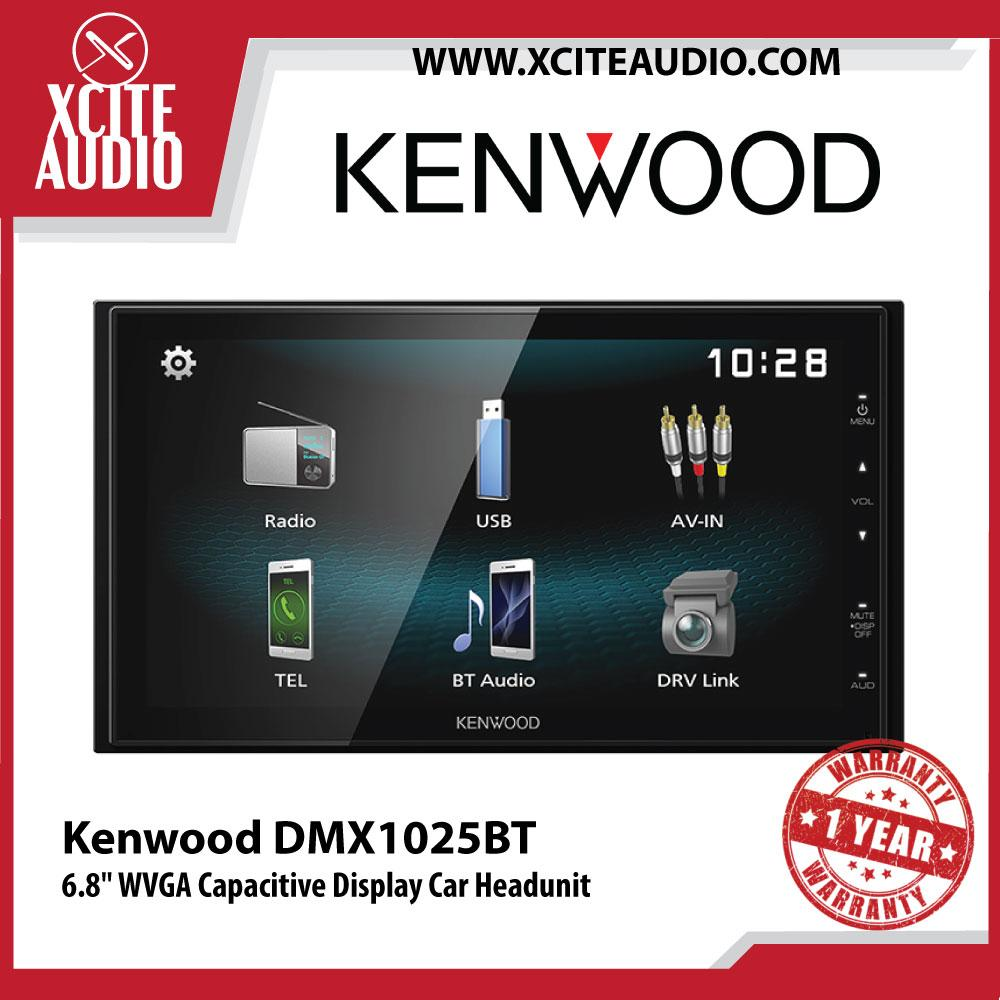 "Kenwood DMX1025BT 6.8"" WVGA Capacitive Display Digital Media Receiver Car Headunit - Xcite Audio"