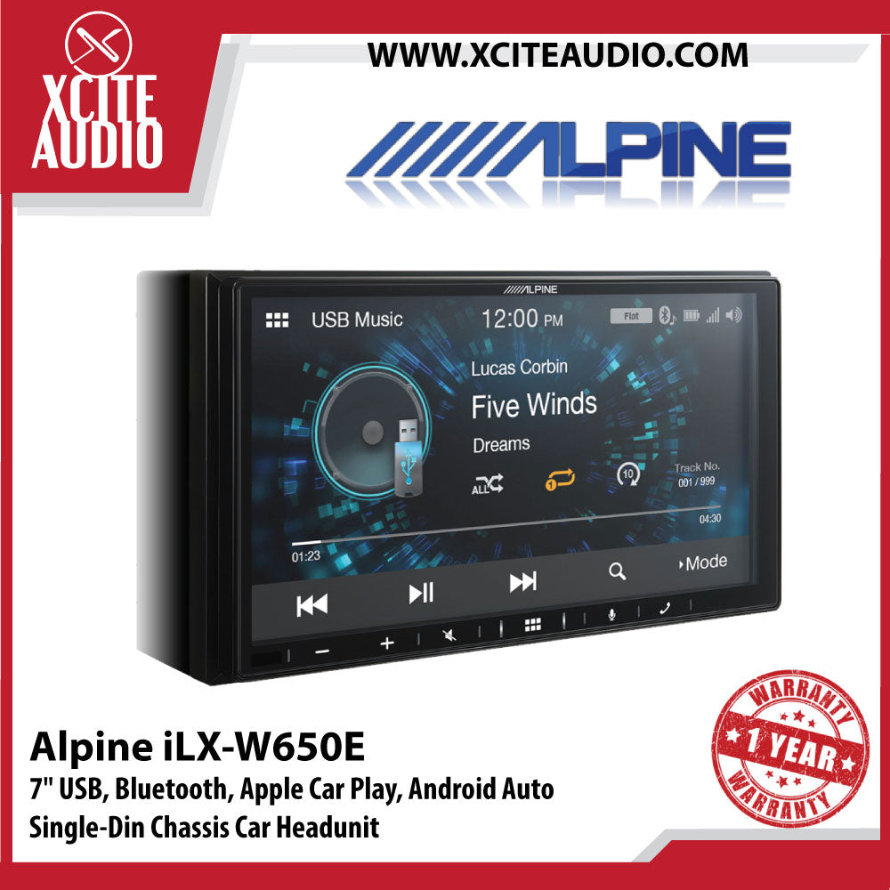 Alpine iLX-W650E 7 Inch Digital Media Station with Apple CarPlay & Android Auto Car Headunit (Pre-Order)