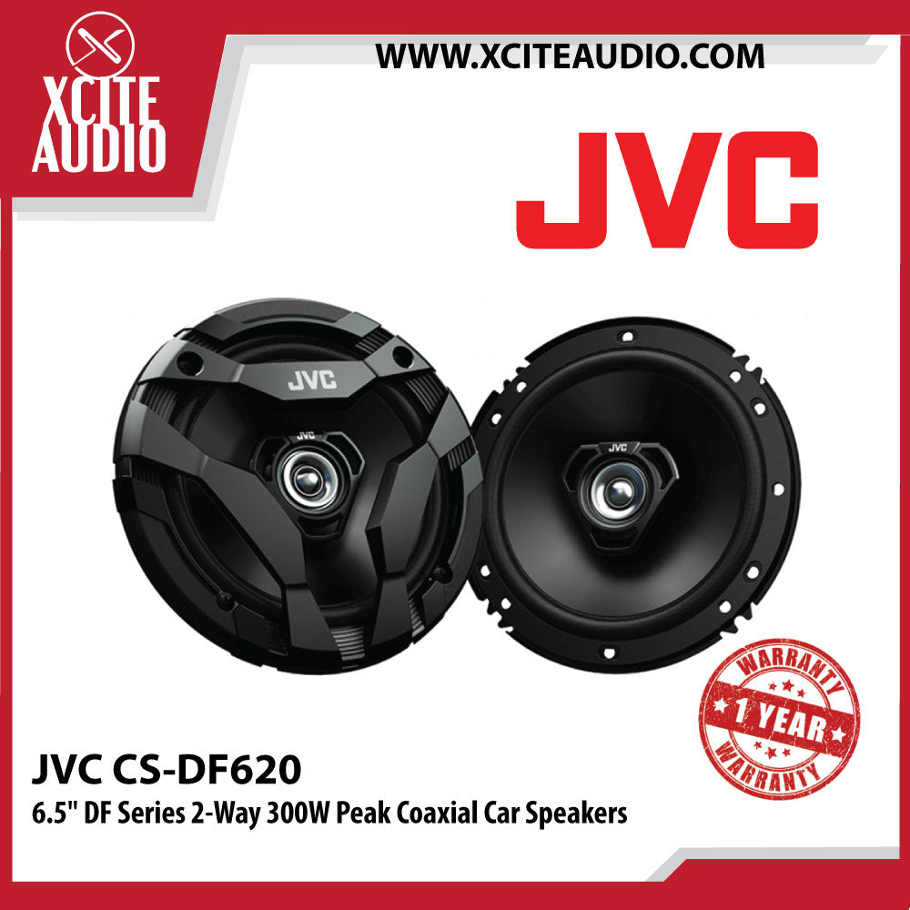 "JVC CS-DF620 6.5"" (16cm) DF Series 2-Way 300W Peak Coaxial Car Speakers - Xcite Audio"