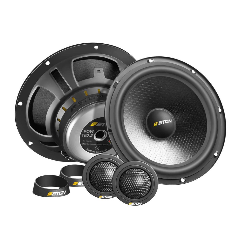 "ETON POW160.2 6.5"" 2-Way 100W Max Power Component Car Speakers - Xcite Audio"