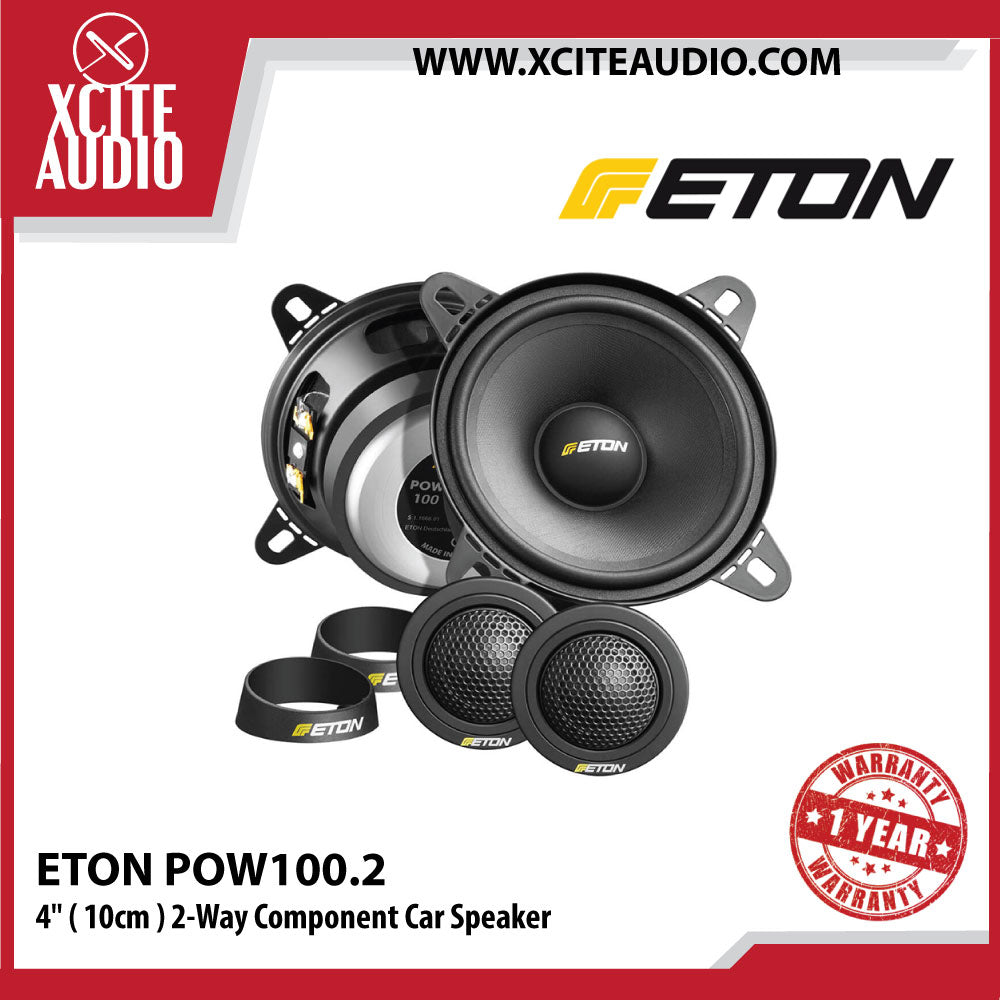 "ETON POW100.2 4"" ( 10cm ) 2-Way Component Car Speaker"