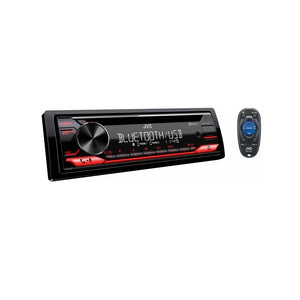 JVC KD-T712BT 1-DIN CD Receiver Bluetooth Car Audio Radio Player USB Stereo Receiver MP3 Player with Remote Control - Xcite Audio