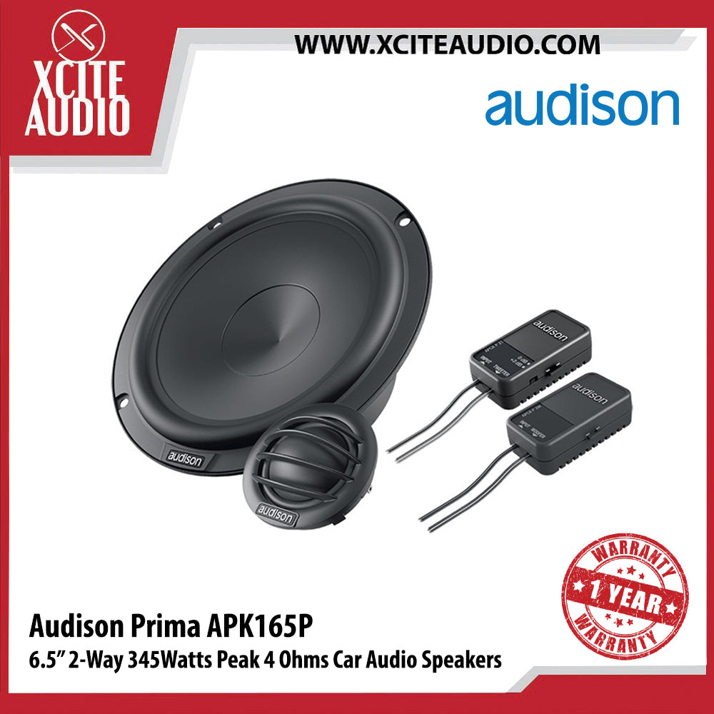 "Audison APK165P 6.5"" 2-Way 345Watts Peak 4-Ohms Car Audio Speakers - Xcite Audio"