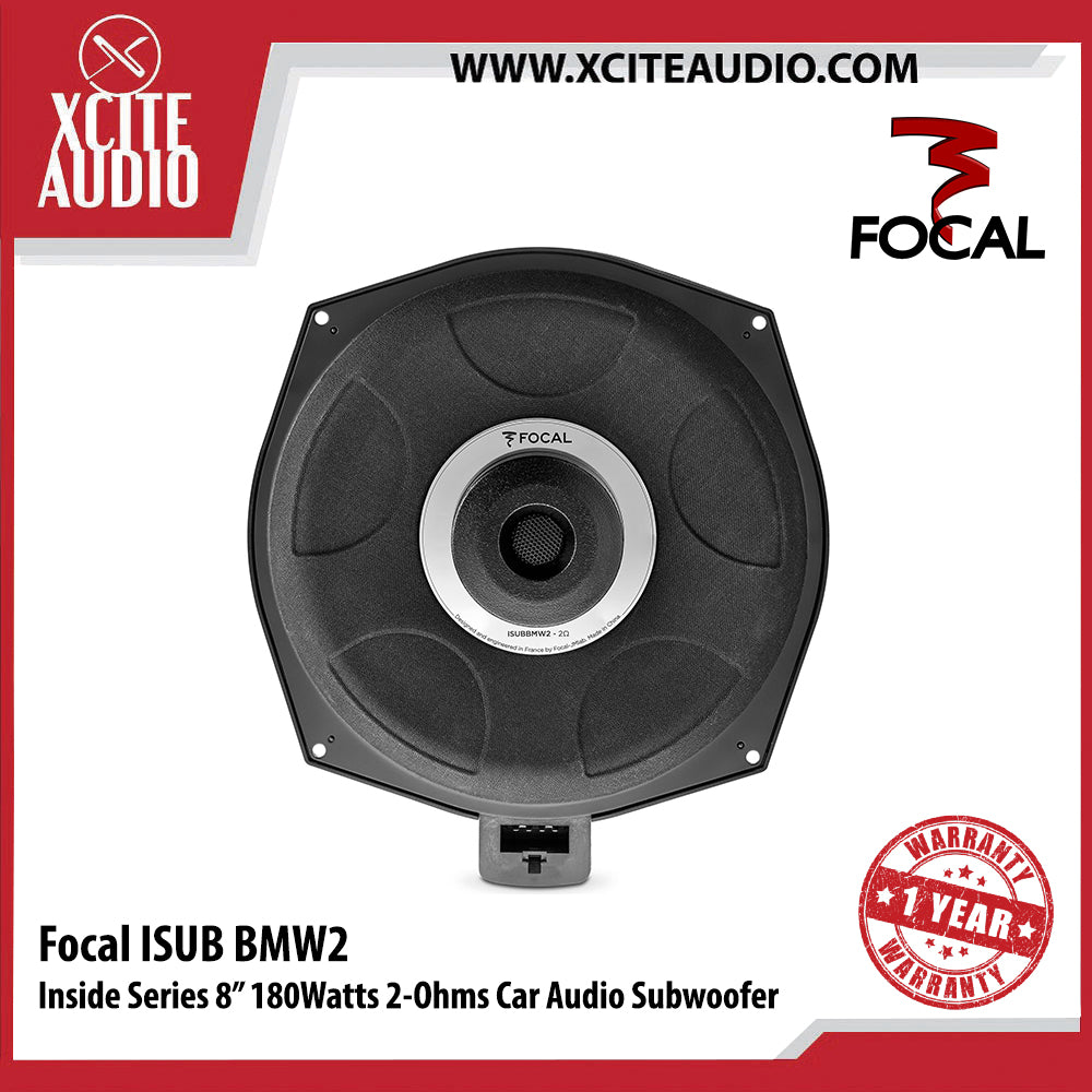 "Focal ISUB BMW 2 Inside Series 8"" 180Watts 2-Ohms Car Audio Subwoofer - Xcite Audio"