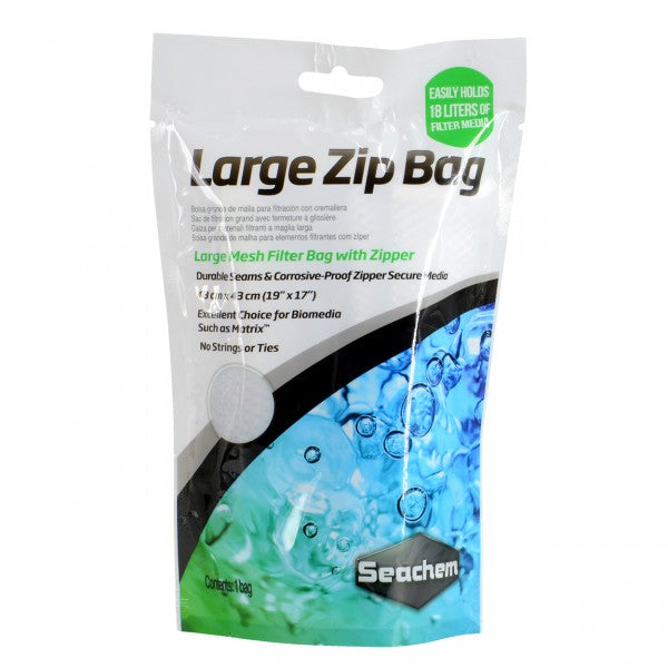 "Seachem Large Zip Bag 19"" X 17"""