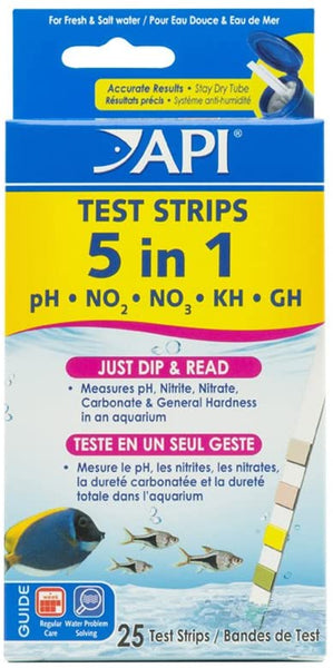 API Test Strips 5 in 1 25 Count