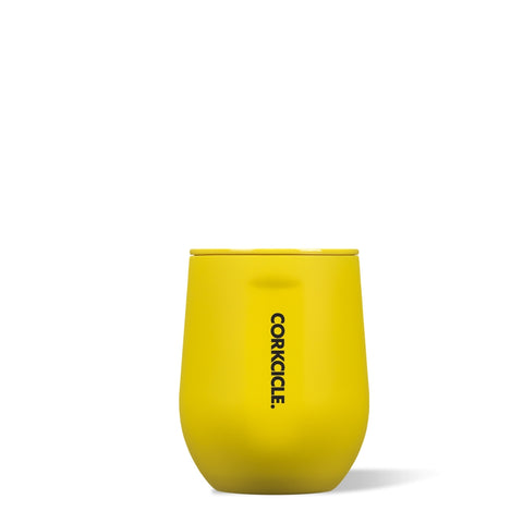CORKCICLE | Stemless 12oz - Neon Yellow