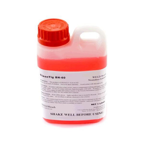 Keztek WELDBrush BN60 Clean TIG Neutralizer Solution - Pink