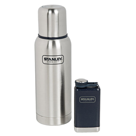 STANLEY | ADVENTURE Gift Set: Bottle & Flask - Brushed Stainless Steel